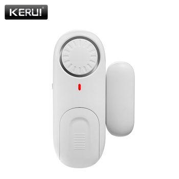 KERUI D1 Sans Fil Petit Indépendant Autonome De Porte Magnétique Porte/Fenêtre Capteur D'alarme de Sécurité Protection d'alarme