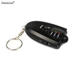 kebidumei Newest Mini Digital Breathalyzer Keychain Breath Alcohol Tester Professional Alcohol Content Detector alcohol Analyzer