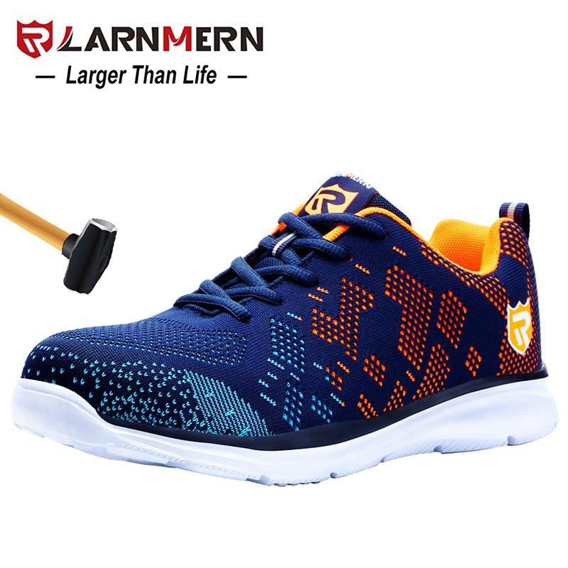Chaussures de sécurité pour hommes LARNMERN légères et respirantes chaussures de travail en acier pour hommes