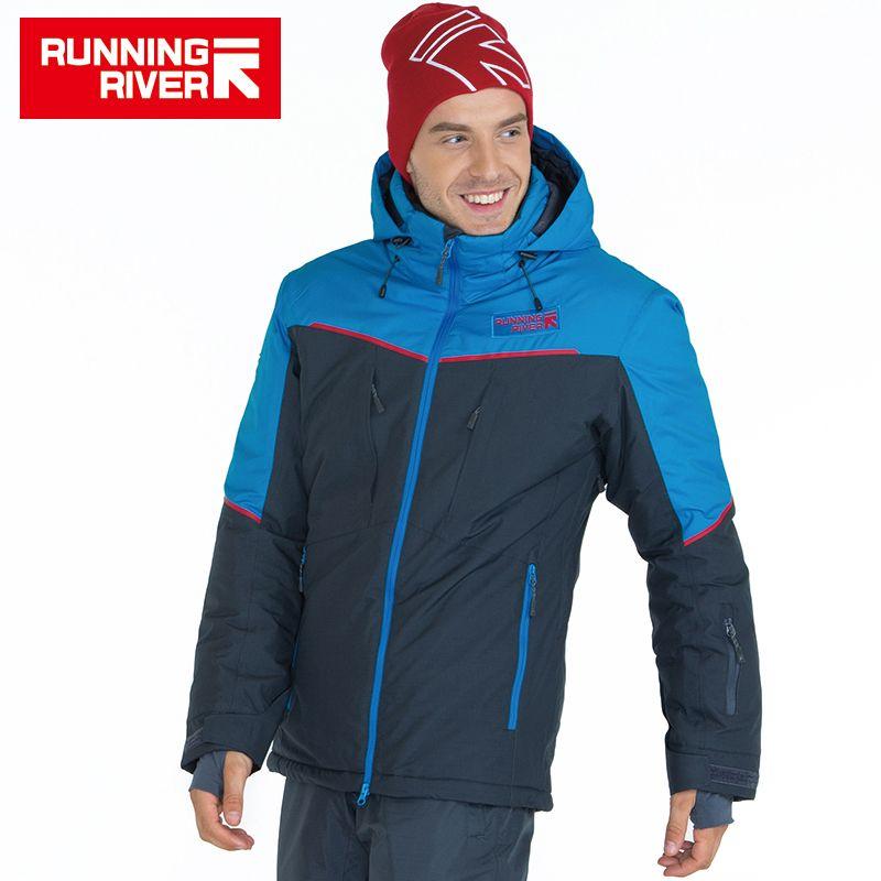 FLUSS Marke Männer Ski Jacke 4 Farben 6 Größen Winter warme Outdoor Sport Jacken Hochwertige Sport Tuch Für Mann # A5029