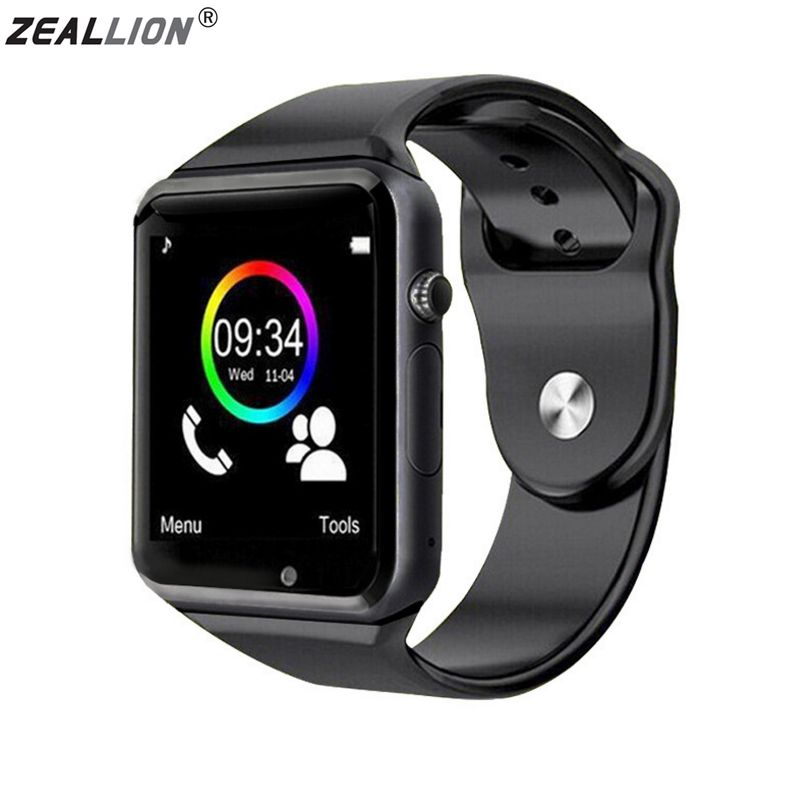 ZEALLION Smart Watch A1 Clock Sync Notifier Support SIM TF Card Connectivity For Android IOS Smartwatch PK DZ09 GV18 GT08