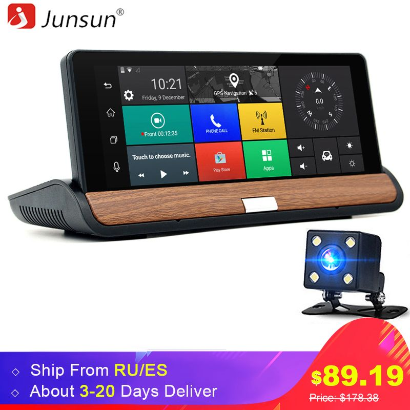 Junsun 3G 7 inch Car GPS Navigation Bluetooth Android 5.0 Navigators Automobile with DVR FHD 1080 Vehicle gps sat nav Free maps
