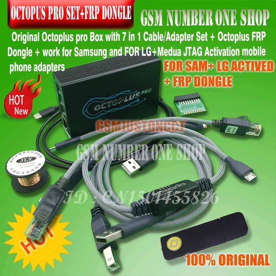 Octoplus pro Box 9 in 1 set (Aktiviert für Samsung + LG + eMMC/JTAG + Octoplus FRP dongle + 5 kabel)