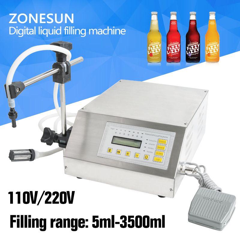 ZONESUN GFK-160 5-3500ml Filling Machine Digital Control <font><b>Pump</b></font> Drink Water Liquid Filling Machine