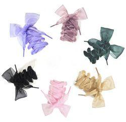 1Pair 110CM Fashion Shoestrings Women Shoelaces Flat Silk Satin Ribbon Shoe Laces Sneakers Sport Shoes Lace Bow