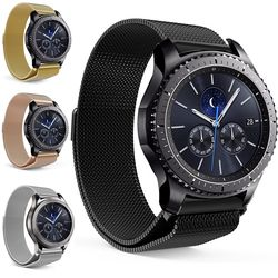 Mesh Milanese Loop Watchband 16 Mm 18 Mm 20 Mm 22 Mm 24 Mm Perak Mawar Emas Hitam Gelang Pergelangan Tangan watch Band Tali Magnetic Penutupan