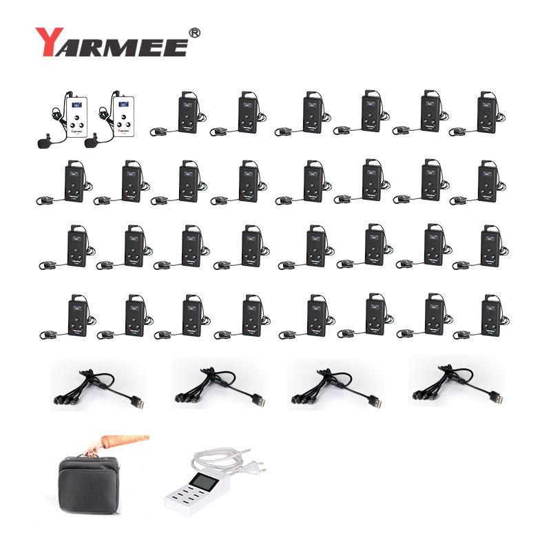 YARMEE YT100 Aktualisiert Version YT200 Wireless Tour Guide System Flüstern Audio Tour Guide Kopfhörer Und Mikrofon Übersetzung System