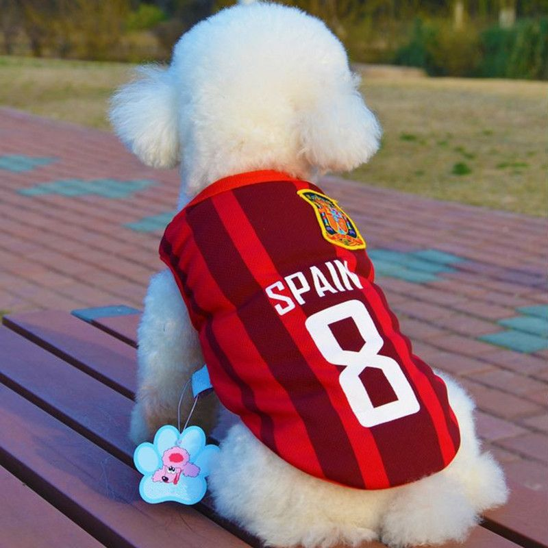 Bajila Weltmeisterschaftfußballt Jersey Für Hund Kühlen Atmungs Hunde Westen Welpen Outdoor-sportbekleidung Fußball Kleidung