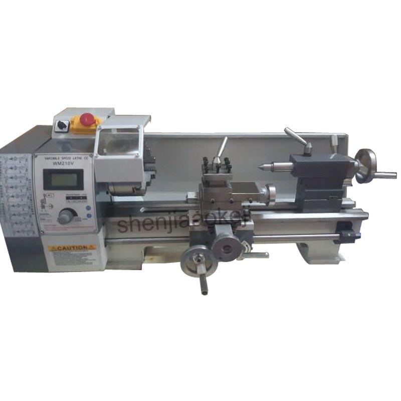 WM210V Kleine drehbank bürstenlosen motor drehmaschine 850 W variabler geschwindigkeit mini metall drehmaschine maschine 220 V