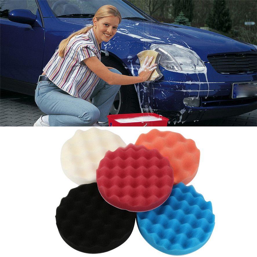 Новый автомобиль обслуживания губка Кисточки 5 шт. 6 дюймов автомобиля полировки мыть губкой растущая стиральная косметический полировка к...