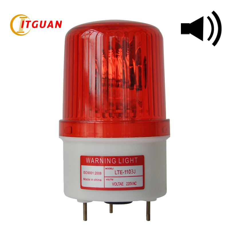 LTE-1103J rotating warning light Alarm Red/Amber/Green/Blue Rotary Workshop Emergency Warning Lamp With Sound 90dB 220v