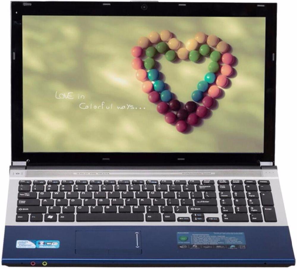 8g RAM + 60g SSD + 500g HDD Intel Core i7 cpu Dual-core HD Graphics gaming Laptop 15,6 1920x1080 p Windows 10 Notebook Mit DVD-RW