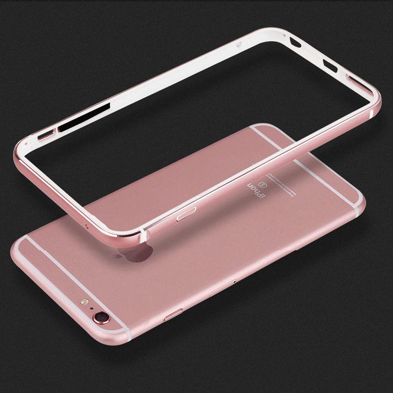 CAPSSICUM 6 S Plus Pare-chocs Cas pour iPhone 6 plus/6 S Plus Souple TPU + Dur en Alliage D'aluminium En Métal Cadre de luxe