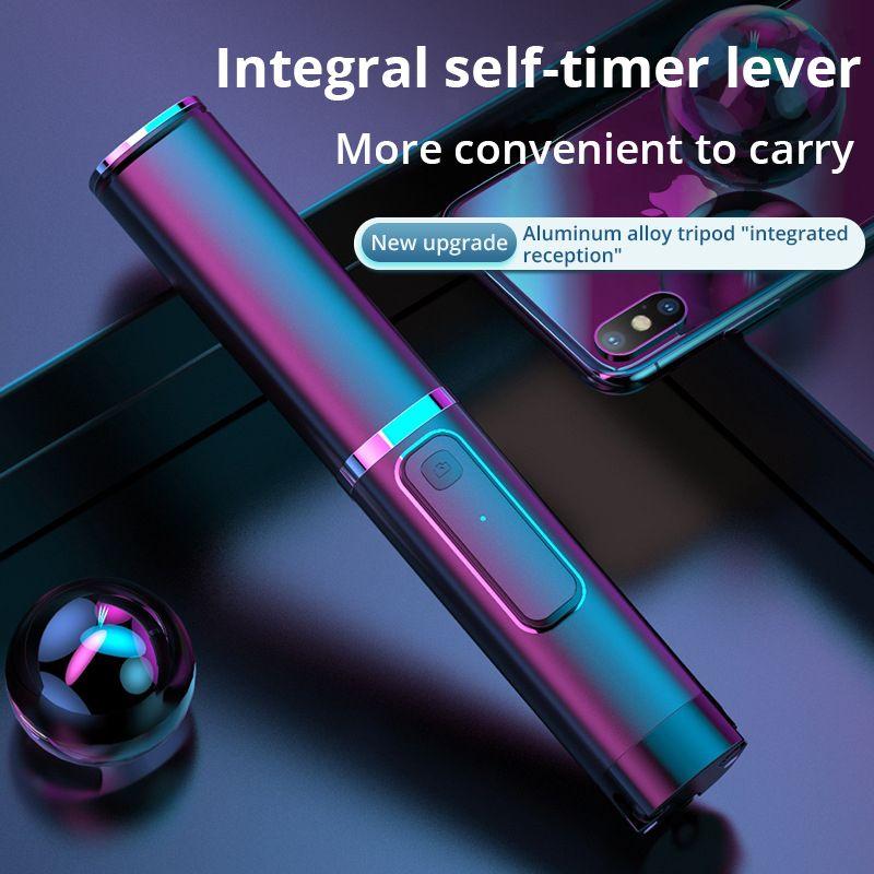 Portable intégré trépied Selfie bâton caché téléphone support Bluetooth bouton téléphone retardateur levier titulaire pour Xiaomi Huawei