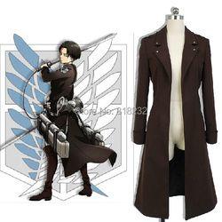 Serangan terhadap Titan / Shingeki tidak Kyojin Levi Ackerman angin mantel jaket tahan dr seragam pakaian kostum Anime Cosplay