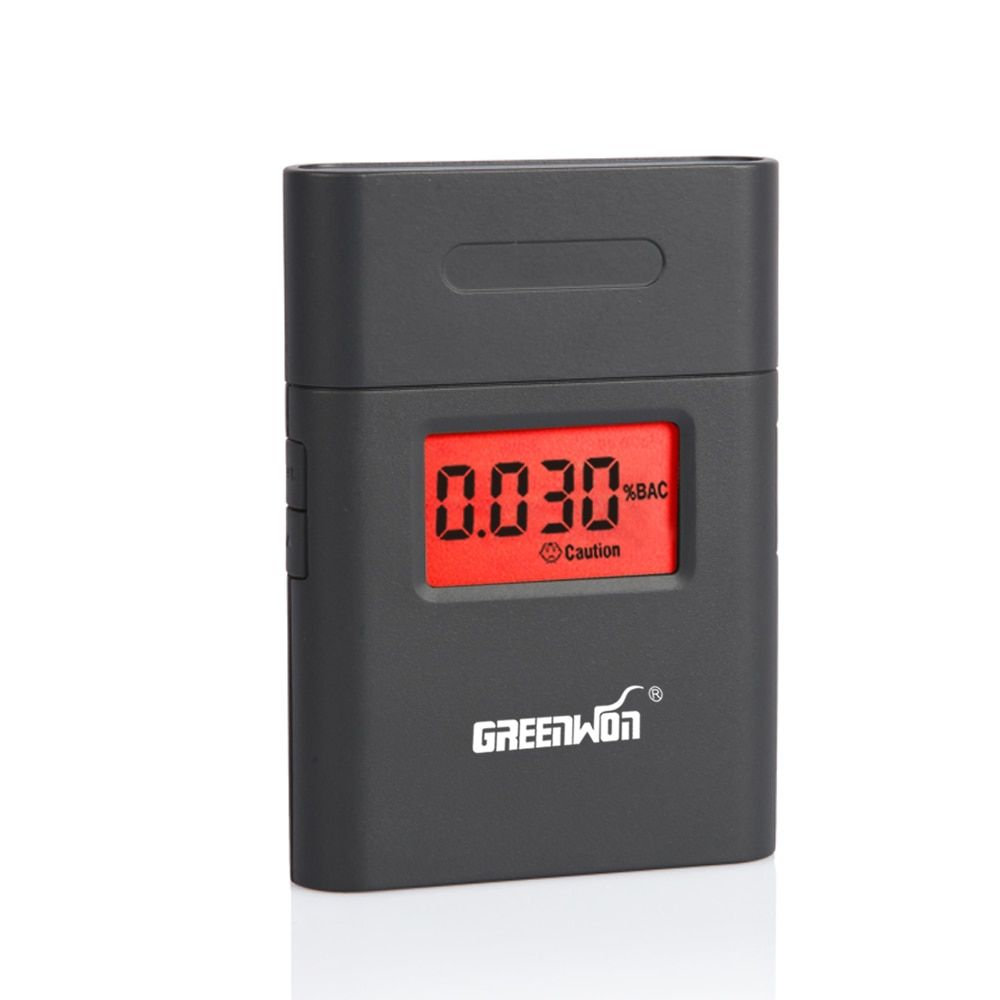 Prefessional Police Portable Breath Alcohol Analyzer Digital Breathalyzer Tester Body Alcoholicity Meter Alcohol Detection