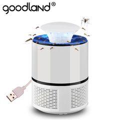 Goodland LED Nyamuk Pembunuh Lampu USB Anti Nyamuk Listrik Bug Zapper Diam Perangkap Nyamuk untuk Luar Ruangan Kamar Tidur Serangga Pembunuh