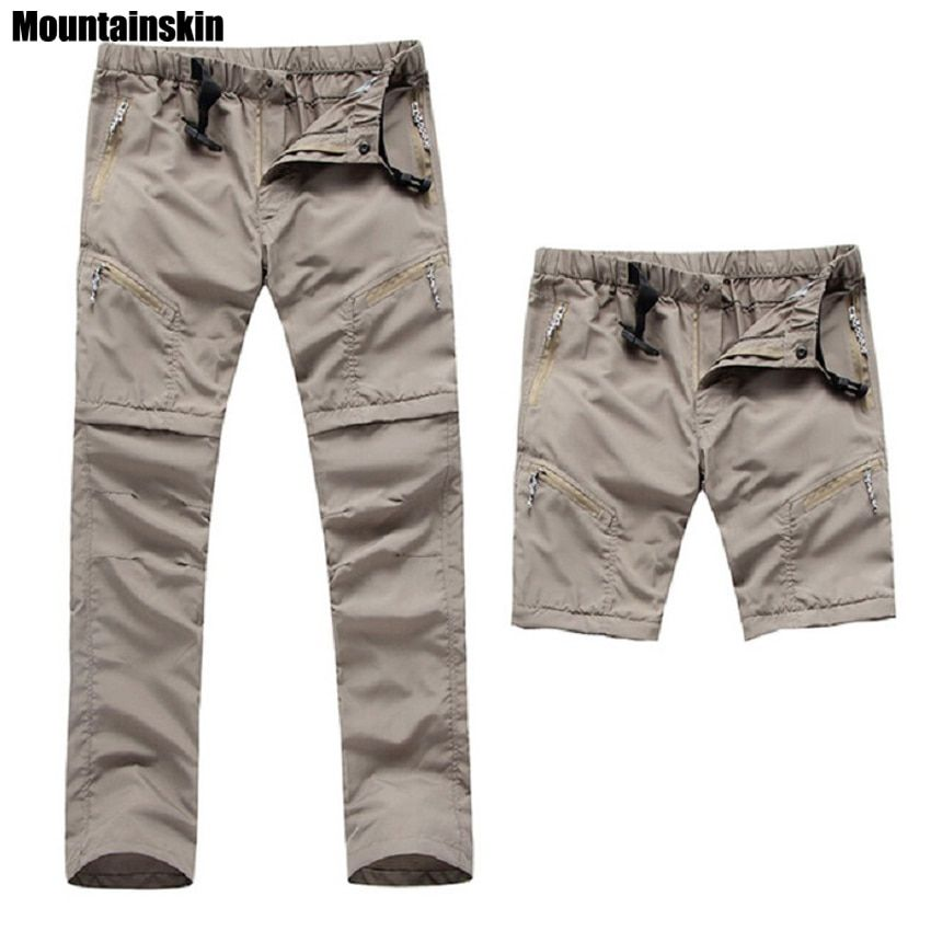 2017 New Men's Quick Dry Removable Hiking Pants Outdoor Sport Summer Breathable Thousers <font><b>Camping</b></font> Trekking Fishing Shorts VA035