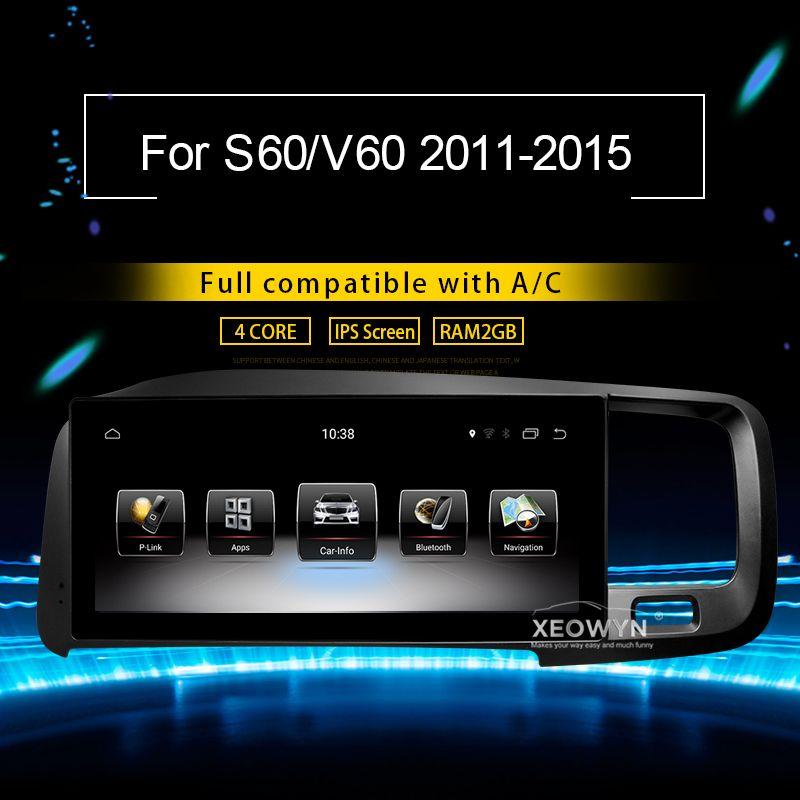 8,8 zoll RAM2G Android 7.0 PX3 Auto Radio Stereo Für Volvo S60 V60 2011-2015 GPS Unterstützung reise informaiton volle touch