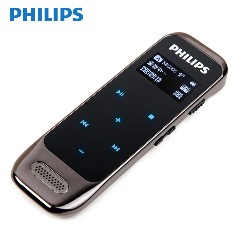 Philips PCM Voice Recorder Mini HD Noise Reduction MP3 Business Professional Detacphone With Voice-Ativated Function