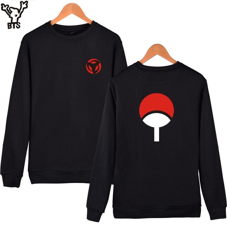 BTS Naruto Classic Anime Capless Hoodies And Sweatshirts For <font><b>Couples</b></font> Fashion Winte Hoodies Men Uchiha Syaringan Funny Clothes