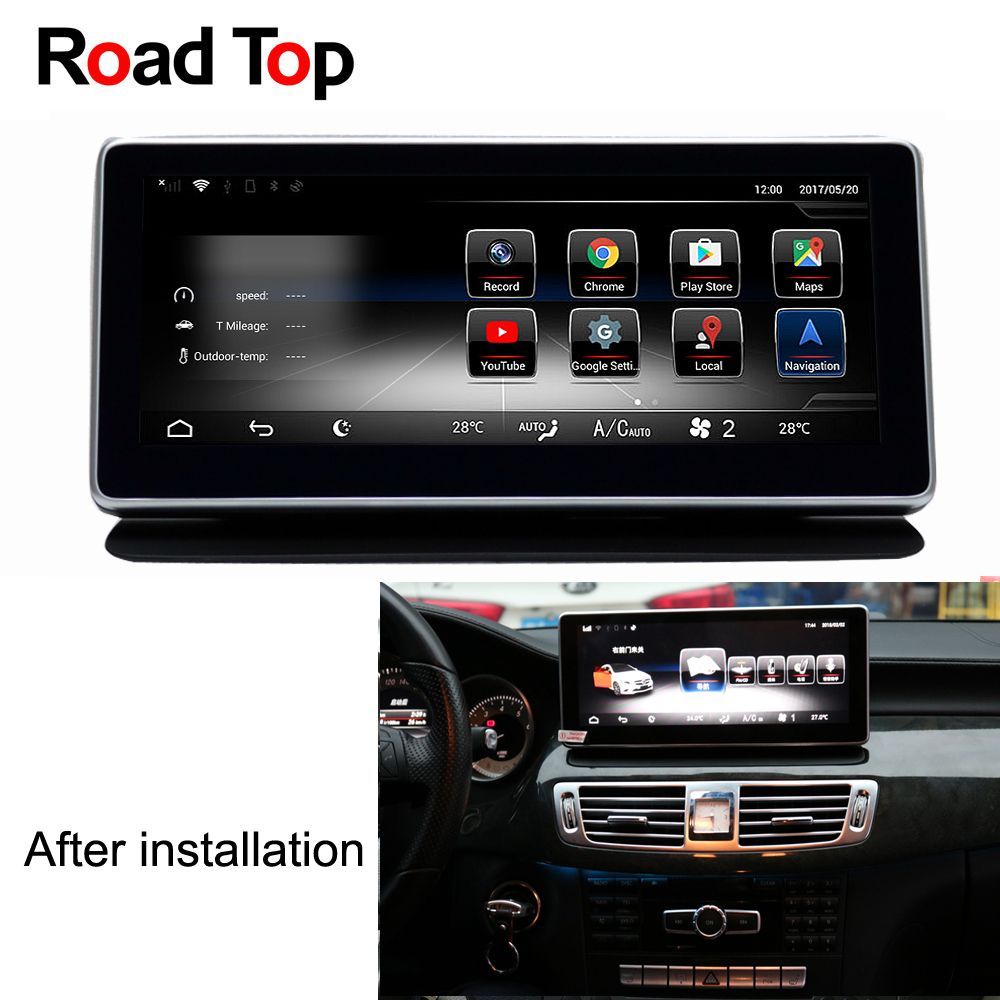 Android 7.1 Octa 8-Core 2+32G Car Radio GPS Navigation WiFi Bluetooth Head Unit Screen for Mercedes Benz CLS W218 2011-2013
