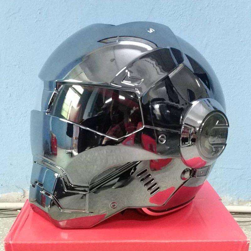 Masei bike scooter moto galvanisieren grau iron man helm motorrad helm hälfte helm jethelm casque motocross