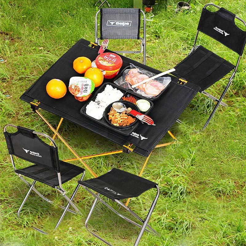 Outdoor camping portable super light folding table aviation large aluminum picnic barbecue table casual table tableFREE SHIPPING