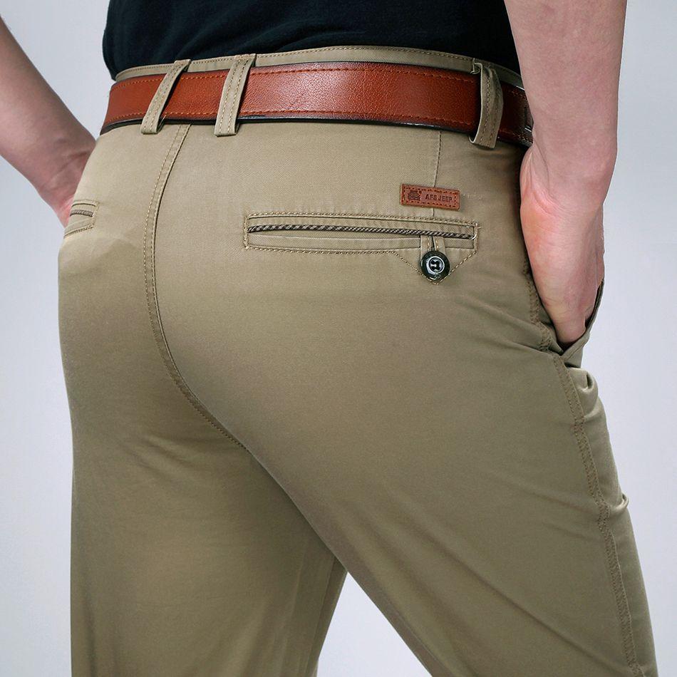 ICPANS Style D'été Mince Pantalon Décontracté Hommes Droites Noir Kaki Pantalon Pantalon Pour Hommes Grande Taille 29-36 38 40 42
