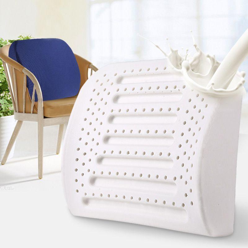 Natural Latex Office Chair Cushion Memory Foam Back Pillow Coccyx Orthopedic Seat Cushion Car Massage Seat Bolster Waist Pillow