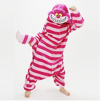 Pijamas cat/chesire cat leotardo/onesie fiesta/holiday animal ropa de noche de halloween rosa patchwork lana de coral