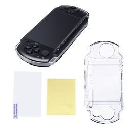 1pcs New Crystal Clear Case Plastic Protective Shell Cover for Sony PSP 1000 2000 Game Console Crystal Body Protector