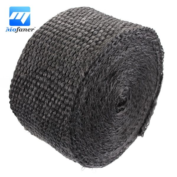 5cm x 5m 1200F Exhaust Manifold Header Downpipe Heat Wrap Front Pipe Black