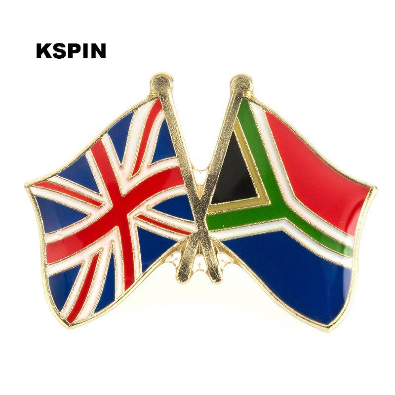 UK Jack South African Friendship Flag Badge Flag pin 300pcs a lot