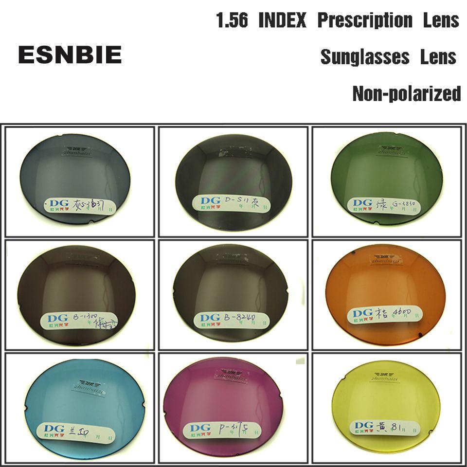 ESNBIE OPTIQUE Personnalisé Teinte Lentilles de Prescription pour les Yeux 1.56 Indice Asphérique des Lentilles De Couleur Lunettes Lentille