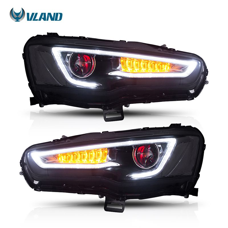Vland Car Styling Head Lamp For Mitsubishi Lancer Headlight 2008-2017 Led Headlights With Demon Eyes