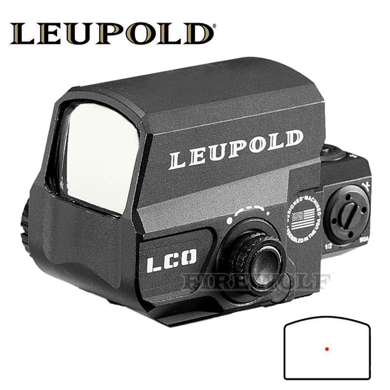 LEUPOLD LCO Upgraded Red Dot Sight Hunting Scopes Holografica Tactical Riflescope Fits Any 20mm Rail Mount Airsoft Gun
