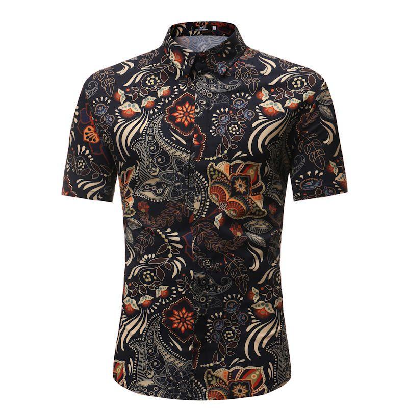 Hommes Chemise été Style palmier imprimer plage hawaïen Chemise hommes décontracté manches courtes Hawaii Chemise Homme asiatique taille 3XL