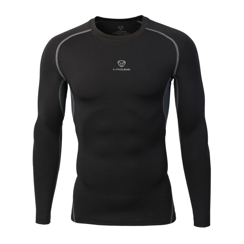 Men's Compression Fitness Long Sleeve Tight Quick Dry T-shirt Gym Runing Sport Training Shirt Tops
