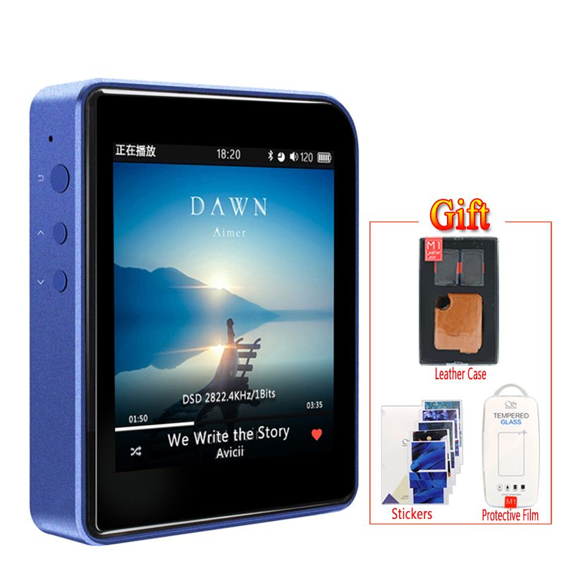 Shanling M1 Bluetooth APTX Mini DAP DSD Lossless MP3 Portable Music Player + leather case +screen protective film free