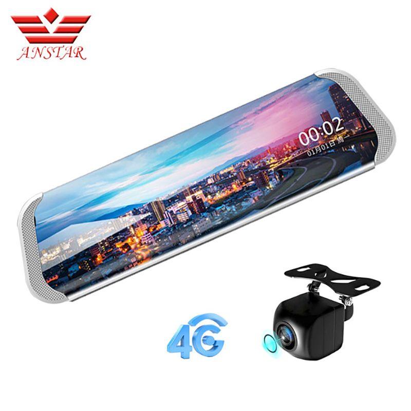 ANSTAR 3G/4G Car DVRs1080P Night Vision Dash Cam Bluetooth Rearview Mirror ADAS WIFI Streaming Rear View Camera Russian Language
