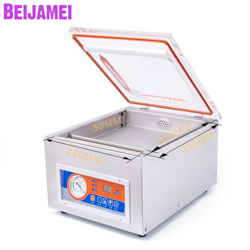 BEIJAMEI Desktop Automatische Vakuum Lebensmittel Versiegelung Packer Handels Vacuum Sealing Verpackung Maschine Für Lebensmittel Erhaltung Trocken Nass