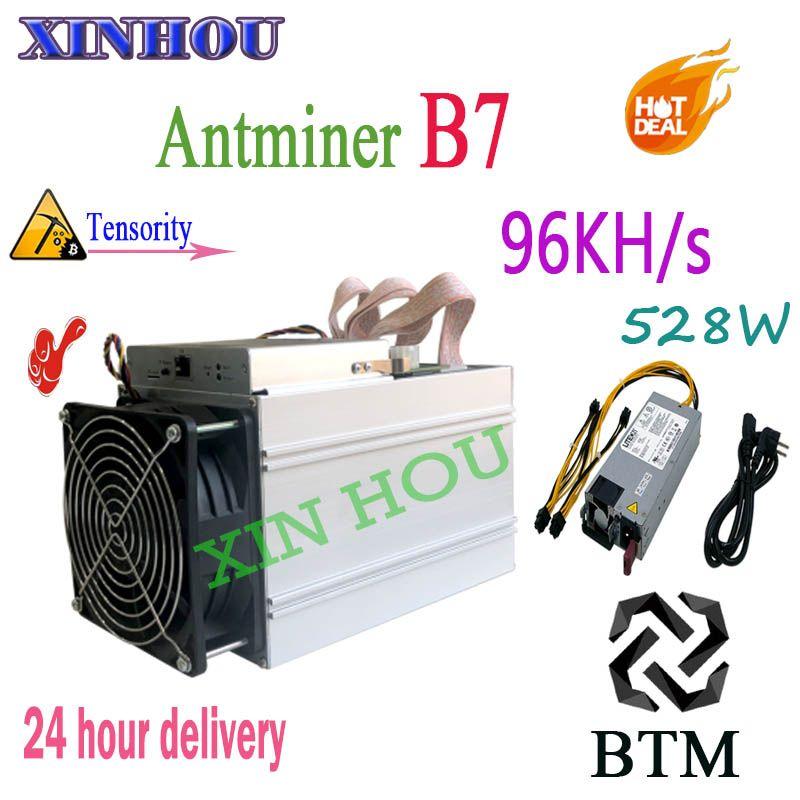 Neue Antminer B7 96KH/s 528 W BTM Miner Mit NETZTEIL Asic Tensority Miner BTM bergbau besser als Antminer s9 S11 S15 T15 Z9 A9 M3x M10