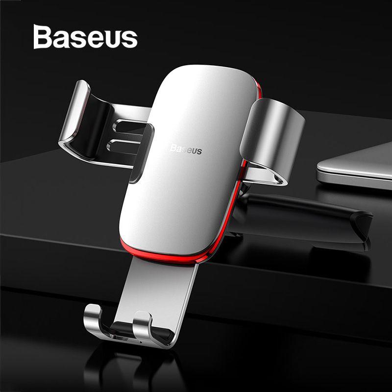 Support pour voiture Baseus gravité support pour voiture support pour téléphone portable support pour téléphone portable pour iPhone X Samsung S10