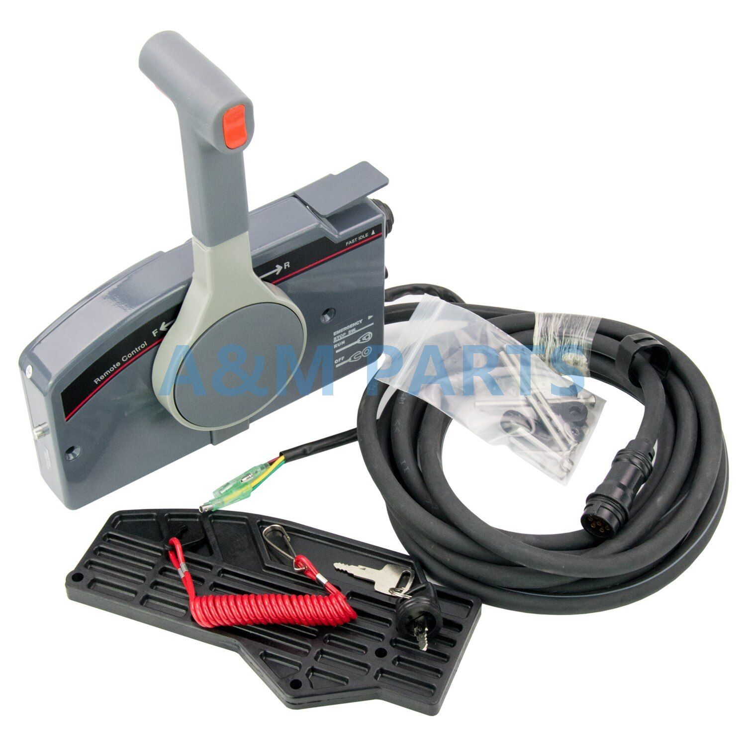 PUSH Throttle Remote Control Box 703 for Yamaha Outboard Side Mount 7 Pin Cable Without Tilt & Trim Switch