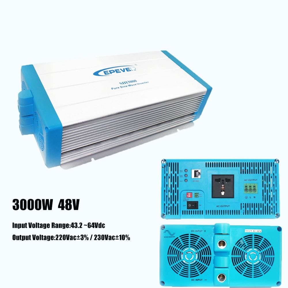 Off-Grid Inverter Pure Sine Wave 3000 Watt 48V 220V EPsolar Energy Saving AC to DC Converter with Extensive Protections