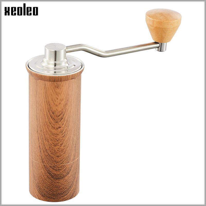 XEOLEO High quality Manual Coffee grinder 45MM Aluminum Coffee miller Black/Brown/Silver 15g Mini Coffee milling machine