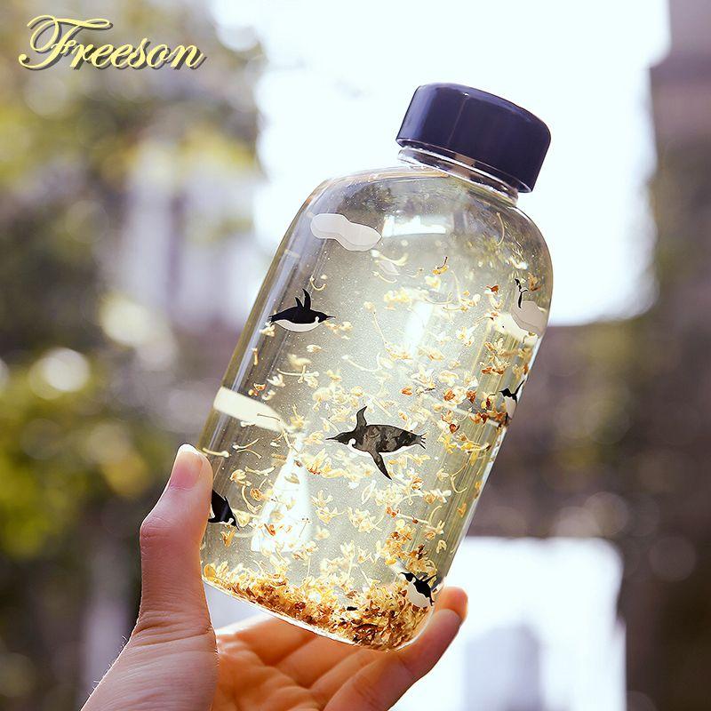 Créatif ours polaire pingouin verre bouteille d'eau mignon animaux bouteilles de glace dessin animé Camping Sport bouteille Tour Drinkware livraison directe