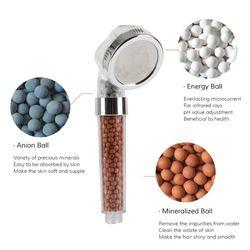 Agua baño ducha terapia filtro de agua reemplazo recarga salud Piedras beeds para la cabeza de ducha de iones negativos