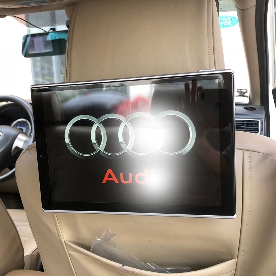 New Items 2018 Electronics Car Android Headrest Monitor For Audi A1 A3 A4 A5 A6 Q3 Q5 Q7 A8 Rear Seat Entertainment DVD Player